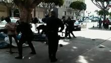 洛杉磯警察打死無家可歸黑人錄影