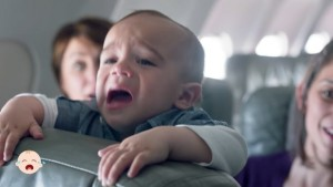 baby crying on plane