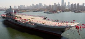 中國第一艘自製航空母艦下水