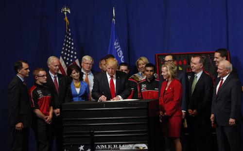 川普簽署「買美國貨,僱美國人」行政令