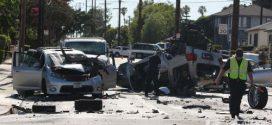 聖蓋博警匪市區追逐釀重大車禍