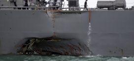 美軍艦碰撞事故,10名船員失蹤,5名船員受傷