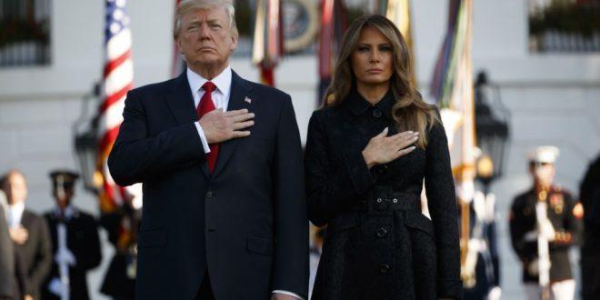 川普總統在白宮舉行紀念911事件儀式