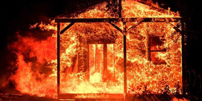 加州酒鄉遭火焚