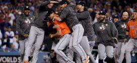 休士頓太空人隊獲得棒球世界大賽冠軍