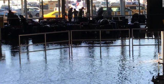 紐約甘迺迪機場爆水管 機場淹水陷混亂