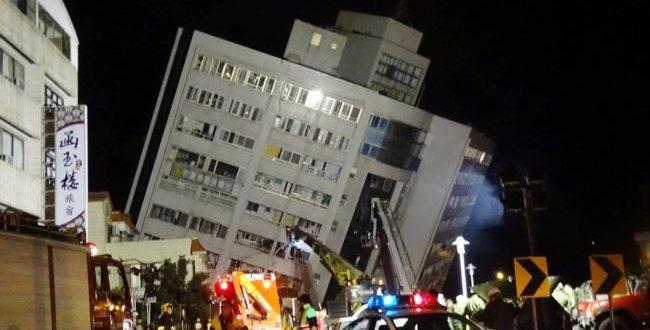 臺灣花蓮強震之後,救援行動持續進行