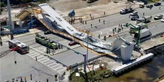 邁阿密大學校園新建人行天橋垮塌,6人死亡