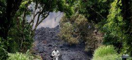 夏威夷火山爆發相關新聞和照片
