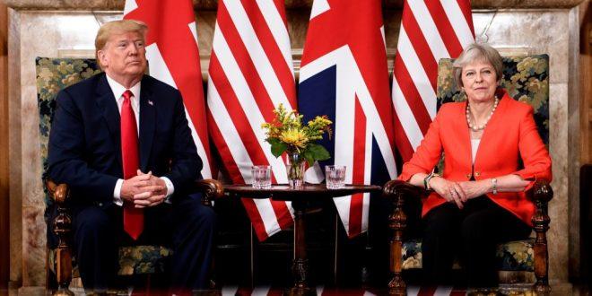 川普晤特雷莎•梅討論英國脫歐提案